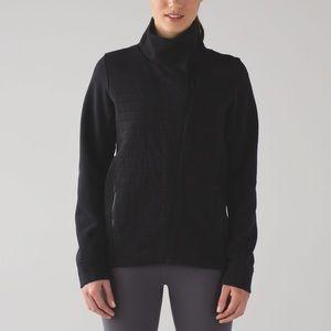 Lululemon fleece be True black quilted jacket